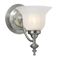 Sconce with Alabaster Glass