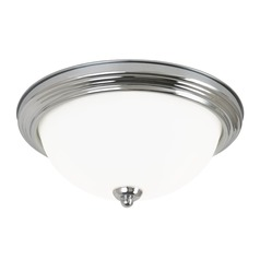 Sea Gull Lighting Ceiling Flush Mount Chrome LED Flushmount Light