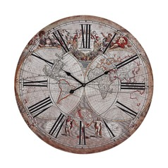 Renaissance Style Printed Map Clock