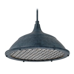 Capital Lighting Pendants Weathered Zinc Pendant Light with Bowl / Dome Shade