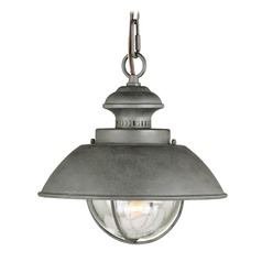 Harwich Textured Gray Outdoor Hanging Light by Vaxcel Lighting