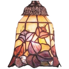 Bell Glass Shade - 2-1/4-Inch Fitter Opening