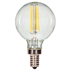 Vintage Style Carbon Filament G16.5 LED Light Bulb - 40-Watt Equivale