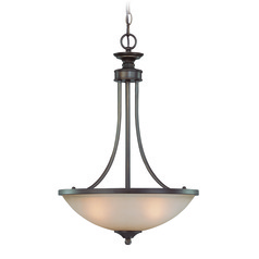 Jeremiah Spencer Bronze Pendant Light with Bowl / Dome Shade