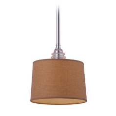 Mini-Pendant Light with Brown Shade