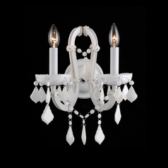 Avenue Lighting Casablanca Way White Sconce