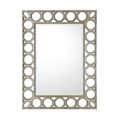 Capital Lighting Silver and Gold Undertones Rectangle Mirror 49x37
