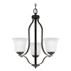 Sea Gull Lighting Emmons Heirloom Bronze LED Mini-Chandelier