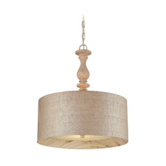 Elk Lighting HGTV Pendant in Washed Pine 14161/3-LA