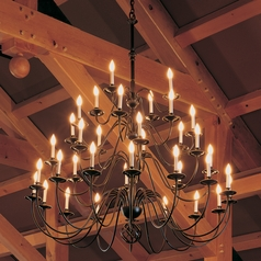 Hubbardton Forge Lighting Ball Basket Black Chandelier