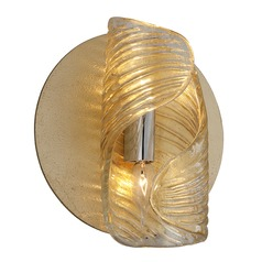 Corbett Lighting Flaunt Gold Leaf / Stainless Sconce
