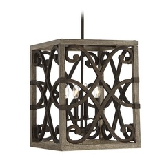 Pendant Light with Square Shade Amador Collection by Savoy House