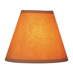 Kraft Paper Empire Lamp Shade with Clip-On Assembly