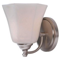 Kenroy Home Lighting Woodhill Brushed Steel Sconce