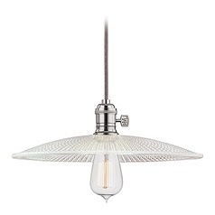 10-Inch Mini-Pendant with Prismatic Glass Shade