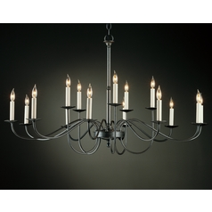 Hubbardton Forge Lighting Simple Lines Natural Iron Chandelier