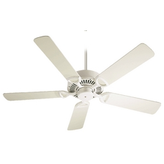 Quorum Lighting Estate Antique White Ceiling Fan Without Light