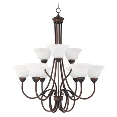 Capital Lighting Hometown Burnished Bronze Chandelier
