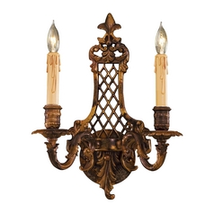 Sconce Wall Light in Oxide Brass Finish