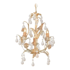 Crystorama Lighting Crystal Chandelier in Champagne Finish 4903-CM