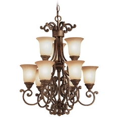 Kichler Mini-Chandeliers in Tannery Bronze W/ Gold Accent Finish