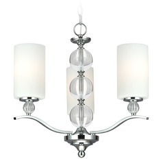 Sea Gull Lighting Englehorn Chrome / Optic Crystal Mini-Chandelier