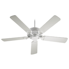 Quorum Lighting Estate Studio White Ceiling Fan Without Light