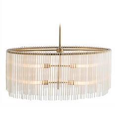 Arteriors Home Lighting Royalton Antique Brass Pendant Light