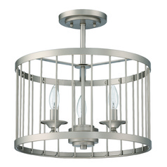 Craftmade Villa Satin Nickel Semi-Flushmount Light