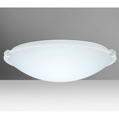 Besa Lighting Trio White LED Flushmount Light