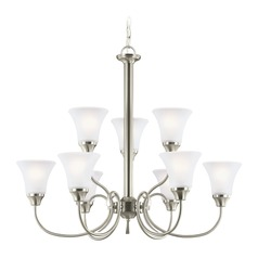 Sea Gull Lighting Holman Brushed Nickel LED Chandelier