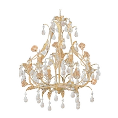 Crystorama Lighting Crystal Mini-Chandelier in Champagne Finish 4906-CM