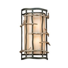 Sconce Wall Light in Graphite and Silver Finish