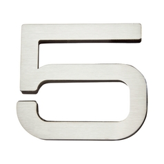 Modern House Number in Stainless Steel Finish