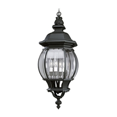 Progress Outdoor Hanging Light with Clear Glass in Black Finish