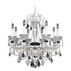 Allegri Campra 8-Light Crystal Chandelier in 2-Tone Silver