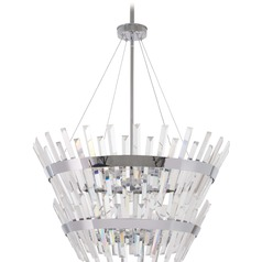 Minka Lavery Echo Radiance Chrome Pendant Light with Abstract Shade