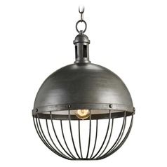 Farmhouse Pendant Light Hiroshi Gray Verne by Currey and Company Lighting