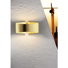 Holtkoetter Lighting Voila Brushed Brass Sconce