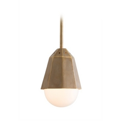 Arteriors Home Lighting Tresor Vintage Brass Mini-Pendant Light