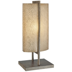 Accent Lamp with Beige / Cream Glass in Patina Iron Finish