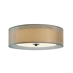 Modern Flushmount Light with Silver Shades in Satin Nickel Finish