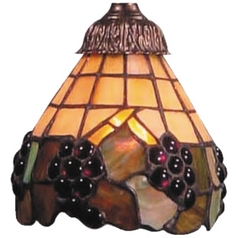 Conical Glass Shade - 2-1/4-Inch Fitter Opening