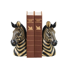 Zebra Decorative Bookend Set