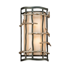 Troy Lighting Sconce Wall Light in Graphite and Silver Finish BF2882