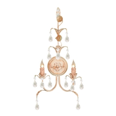 Crystorama Lighting Crystal Sconce Wall Light in Champagne Finish 4902-CM