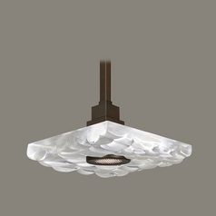 Fine Art Lamps Crystal Bakehouse Bronze Pendant Light with Square Shade