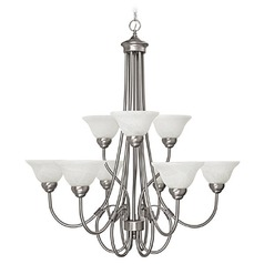 HomePlace Lighting Hometown Matte Nickel Chandelier