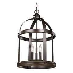 Sea Gull Lighting Lonoke Heirloom Bronze LED Pendant Light