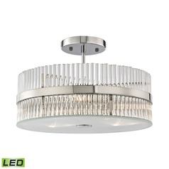 Elk Lighting Nescott Polished Chrome LED Semi-Flushmount Light